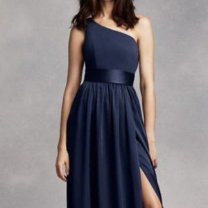 White by Vera Wang Bridesmaid Navy Gown 4